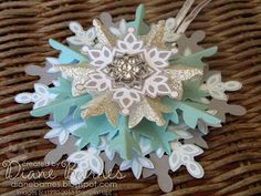 Stampin Up Festive Flurry Christmas ornament by Di Barnes