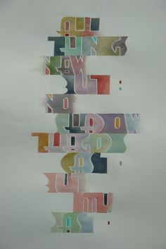 Pen and Ink Calligraphy: Watercolour and Pencil