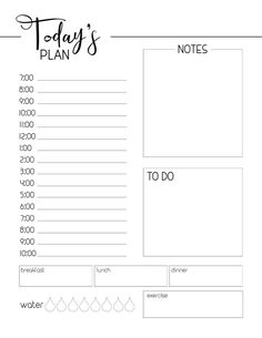 Free Printable Daily Planner Template – Paper Trail Design – Office organization at work To Do Planner, Daily Planner Pages, Time Planner, Study Planner, School Planner, Weekly Planner, Goals Planner, Free Daily Planner Printables, Daily Work Planner
