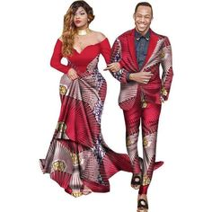 African Bazin Riche Dresses Special Offer Women 2017 Cotton New Arrival African Couple Suits Wax Printing Couples African Outfits, Couple Outfits, African Attire, African Wear, African Suits, African Style, African Dress, African Fashion Designers, African Men Fashion