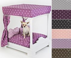 Chi Ki Paws Buckle Berry Four Poster Dog Bed
