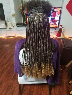 Colored Box Braids, Big Box Braids, Jumbo Box Braids, Braids With Curls, Little Girl Hairstyles, Twist Hairstyles, Protective Hairstyles, Natural Hair Braids, Natural Hair Styles