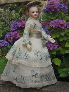 ~~~ Delicate French Bisque Poupee with Marvelous Costume ~~~ from whendreamscometrue on Ruby Lane