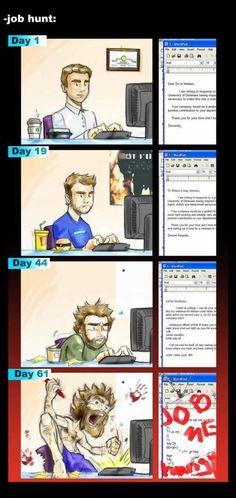 Job Hunt #comic #comicstrip #cartoons