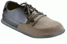 Birkenstock walking-shoes Montana from Leather/Nubuck in Mocca/Black with a regular insole