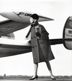 Christa Vogel in a tweed coat by Charles Ritter  Photo by F.C Gundlach, 1963