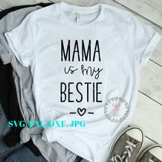 23793b24c Mama Is My Bestie SVG, Baby Boy Svg, Girl SVG, Newborn svg, Onesie SVg, Cut  File For Cricut and Silhouette
