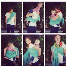 Babytragen Neugeborene: Back carry with a ring sling - Baby World Ring Sling Carries, Baby Dress Tutorials, Baby Wearing Wrap, Baby Carrying, Baby Sling, Baby Girl Princess, Woven Wrap, Babies First Year, Baby Wraps