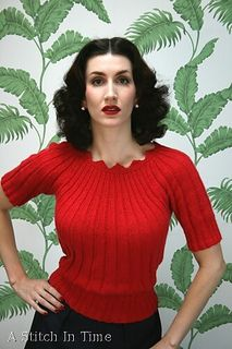Sun-Ray Ribbing by Susan Crawford. A Stitch In Time, Knitting and Crochet Patterns, 1920-1949 Vol. 1 | ravelry.com