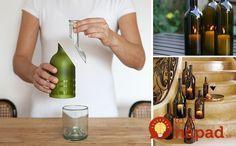 Amazing diy ideas for turning empty wine bottles into fun crafts Cutting Wine Bottles, Empty Wine Bottles, Bottle Cutting, Glass Bottles, Wine Glass, Diy And Crafts Sewing, Fun Crafts, Diy Cutting Board, Wine Bottle Crafts