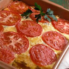 """""""Easy Fiesta Brunch"""".... this is a wonderful breakfast dish with sausage, tortillas, monterey jack cheese, green chilis, tomato & eggs."""