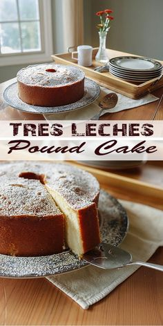 Tres Leches Pound CakeWe transformed this Latin dessert into a dense pound cake, soaked with three milks, of course. Party Desserts, Just Desserts, Delicious Desserts, Dessert Recipes, Yummy Food, Cuban Desserts, Spanish Desserts, Food Cakes, Cupcake Cakes