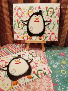 Check out this item in my Etsy shop https://www.etsy.com/listing/477651974/cute-penguin-2-pack-holiday-cards