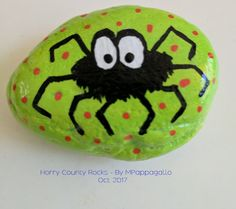 Spider Painted Rock - Oct 2017
