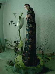 Cierra Skye in 'Hieronymus Bosch' Photographer: Tim Walker Cape: Valentino Haute Couture F/W 2015/16 Love #16 S/S 2016