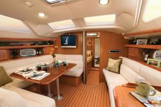 Interior - 45' Hunter Sailboat. Who needs or wants a house when you could have this instead?