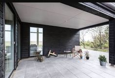 Exquisite Summer House with Danish Design by Skanlux Contemporary Bathrooms, Contemporary Interior Design, Home Interior Design, Interior Doors, Industrial Interiors, Industrial House, Dining Room Fireplace, Wooden House, Small House Plans