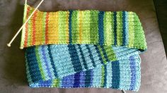 Year In temperatures Scarf - Every day, do one row in the color that corresponds to the temperature range :)