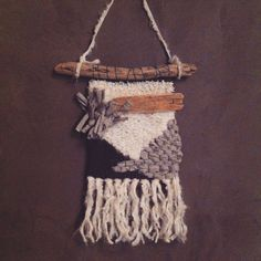 Numero 3  #weaving #gray #wood #wallhanging