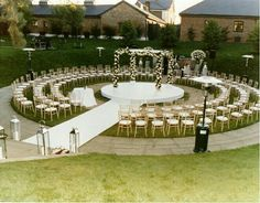Circular seating during ceremony! Circle of love! Try something new!
