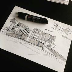 "Architecture - Daily Sketches on Instagram: ""By @syahdaud #arch_more"""