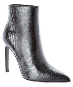 8a1f259c002b SAINT LAURENT Croc Embossed Leather Boot .  saintlaurent  shoes  boots  amp