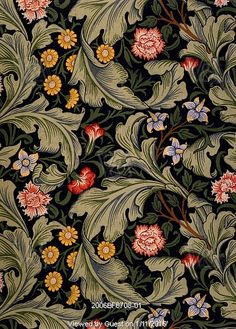 Leicester wallpaper, by John Henry Dearle, for Morris & Co. England, 1887. © Victoria and Albert Museum, London. #morris #wallpaper