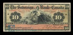 note from the Sovereign Bank of Canada, May The Sovereign Bank lasted from 1901 to brought down by the 1907 credit crisis. Ontario City, Post Bank, Folding Money, Play Money, Canada, Old Coins, Money Saving Tips, Postage Stamps, The Incredibles