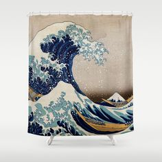 Under the Great Wave by Hokusai Shower Curtain by ArtMasters - $68.00