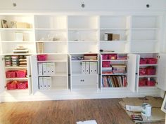 avery street design blog: DIY summer school // IKEA hack built-in bookcases