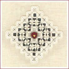 "The Victoria Sampler - ""Noel Ornament"" - free patterns (hardanger embroidery)"