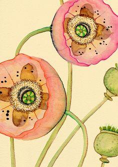 Prinzessin Victoria Louise Poppy - Papaver orientalis (Detail)
