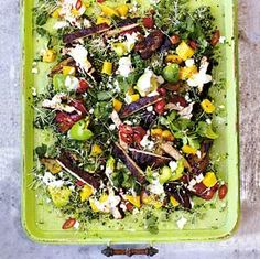 San Fran Salad with blackened chicken, mango and quinoa, Jamie Oliver Jamie's 15 Minute Meals, 15 Min Meals, Chicken Quinoa Salad, Quinoa Salad Recipes, Lentil Salad, Quinoa Rice, Avocado Recipes, Jamie Oliver 15 Minute Meals, Blackened Chicken