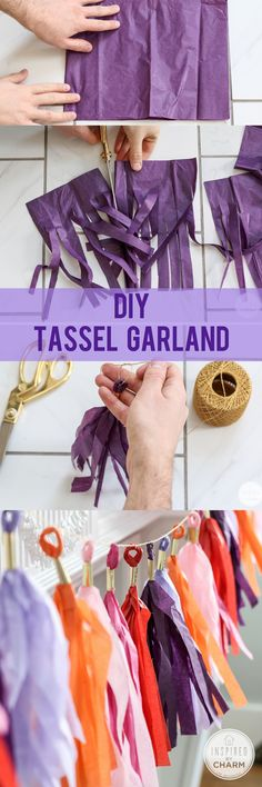 Cute tips you will want to steal for your grad party ideas whether you are graduating high school, college, or even middle school! These unique grad party ideas are the best for throwing a fun party along with these food ideas and party decoration ideas. Diy Tassel Garland, Tassels, Party Garland, Birthday Garland, Diy Birthday, Garland Ideas, Tissue Garland, Balloon Garland, Birthday Ideas