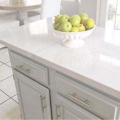 Faux marble countertops by Julie Warnock Interiors.