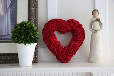 heart-wreath-theidearoom Beautiful and easy tutorial to make this lovely wreath