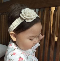 Skein and Hook: Free Crochet Pattern: Alexandria Flower Headband
