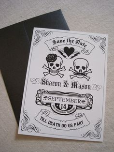 Till Death Do Us Part  Save The Date by theoriginalpear on Etsy, $1.50