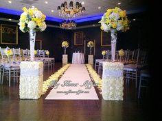 Yellow Grey The Hills Hotel Wedding Flowers Photos on WeddingWire