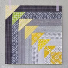 Using the quilt-as-you-go technique, learn to make this quilt block reminiscent of flying geese!