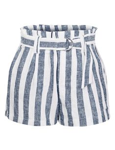 Casual Linen Striped High Waisted Paperbag Belted Shorts with Pockets Damen Casual Leinen Striped High Waisted Paperbag Belted Shorts mit Taschen Black High Waisted Shorts, Belted Shorts, Striped Shorts, Floral Shorts, Short Shorts, Cute Summer Outfits, Short Outfits, Casual Outfits, Cute Outfits