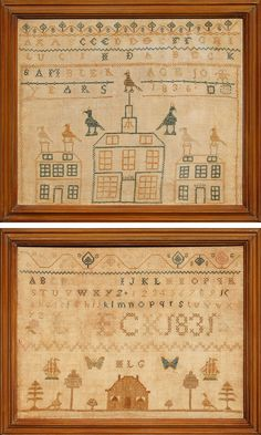 Antiques & Fine Art - Finkel, M. & Daughter - Two Samplers by Lucinda Beck
