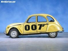 The name's Citroen, 2CV Citroen  Forget the iconic Aston Martin, James Bond fans around the world have voted the Citroen 2CV as the best car ever from which the fictional British secret agent slipped shaken, but not stirred after an epic car