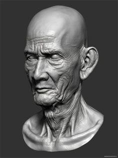 Cambodian Old Man Detailed Head in ZBrushComputer Graphics & Digital Art Community for Artist: Job, Tutorial, Art, Concept Art, Portfolio