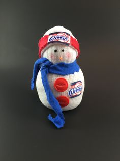 LA Clippers, LA Clippers snowman, LA Clippers accessory, Sports, Basketball, Los Angeles Clippers accessory,Los Angeles Clippers Basketball, by Andreaswishcraft on Etsy
