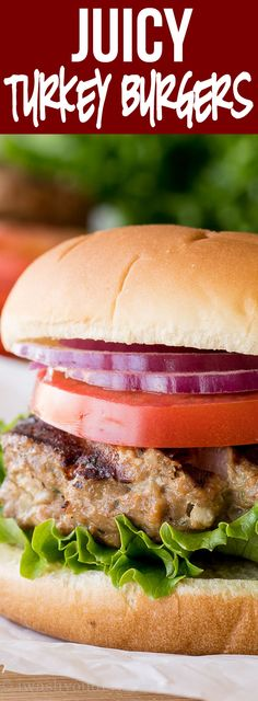 The Juiciest Turkey Burgers These are the juiciest Turkey Burgers and the most flavorful too! My whole family LOVED them! The Juiciest Turkey Burgers These are the juiciest Turkey Burgers and the most flavorful too! My whole family LOVED them! Baked Turkey Burgers, Ground Turkey Burgers, Greek Turkey Burgers, Turkey Burger Recipes, Beef Burgers, Hamburger Recipes, Veggie Burgers, Healthy Turkey Burgers, Turkey Meals