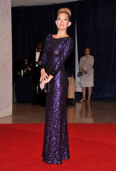 Kate Hudson Beaded Dress - Kate Hudson looked like a '60s glam queen in this glittering gown at the White House Correspondents' Dinner.