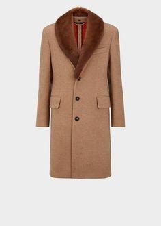Cappotto in cashmere con colletto - Cammello Giacche & Cappotti