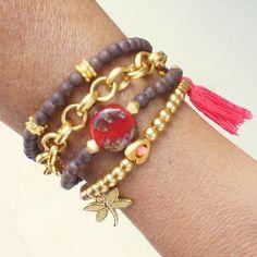 Boho Bracelet, Multistrand Bracelet,  Bohemian Jewelry, Beaded Bracelet Set…