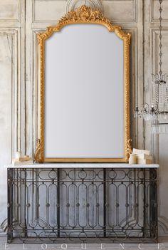 ELOQUENCE® Antique French Mirror, Circa 1880